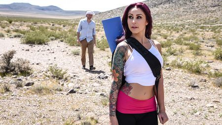 Monique Alexander tight ass fucked doggy in desert