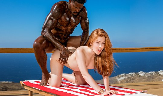 Young rich redhead fingering with a black dick with a big dick by the pool – ujizz